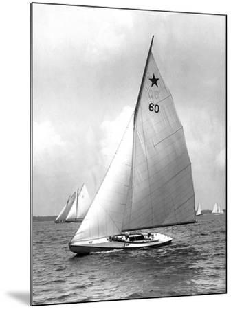 Star Class Boat Themis in Race of 1922-Edwin Levick-Mounted Photographic Print