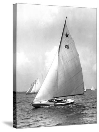 Star Class Boat Themis in Race of 1922-Edwin Levick-Stretched Canvas Print