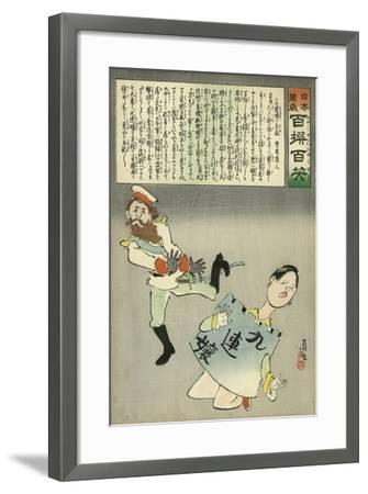 Miss Jiuliancheng and the Russian Soldier-Kobayashi Kiyochika-Framed Giclee Print