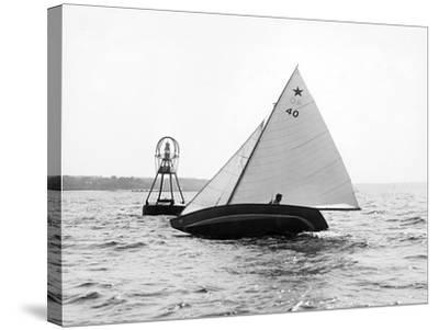 Star Class Race: Southwind Rounding the Mark-Edwin Levick-Stretched Canvas Print