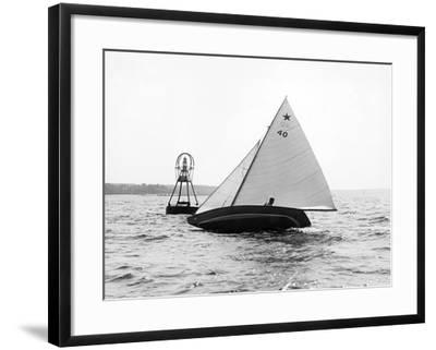 Star Class Race: Southwind Rounding the Mark-Edwin Levick-Framed Photographic Print