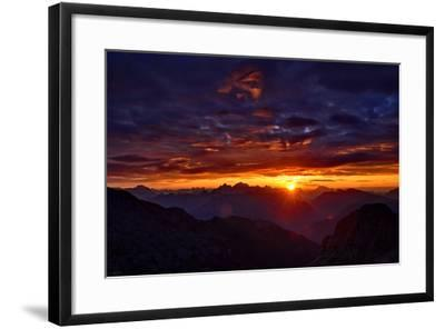 Dolomites at Sunrise-Stefan Sassenrath-Framed Photographic Print