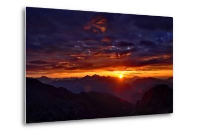 Dolomites at Sunrise-Stefan Sassenrath-Metal Print