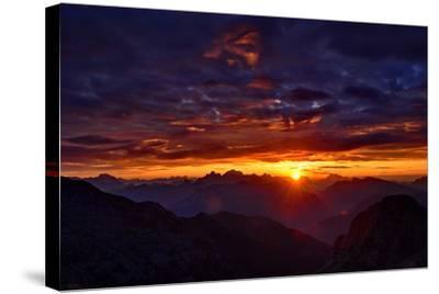 Dolomites at Sunrise-Stefan Sassenrath-Stretched Canvas Print