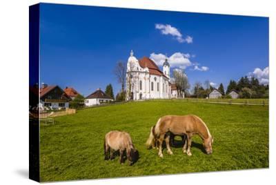 Germany, Bavaria, Upper Bavaria, Pfaffenwinkel, Steingaden-Udo Siebig-Stretched Canvas Print