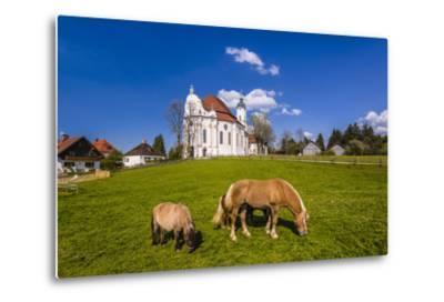 Germany, Bavaria, Upper Bavaria, Pfaffenwinkel, Steingaden-Udo Siebig-Metal Print