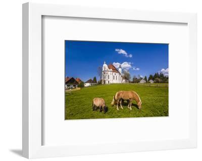 Germany, Bavaria, Upper Bavaria, Pfaffenwinkel, Steingaden-Udo Siebig-Framed Photographic Print