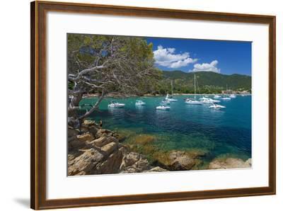 France, Cote D'Azur, Bathing Bay-Chris Seba-Framed Photographic Print