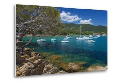 France, Cote D'Azur, Bathing Bay-Chris Seba-Metal Print