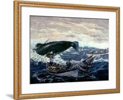Sperm Whaling Fast Boat Ca. 1900-1930-Clifford Warren Ashley-Framed Giclee Print