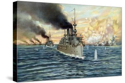 U.S. Navy - Naval Battle of Manila - May 1st, 1898-Werner-Stretched Canvas Print