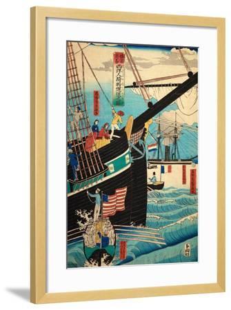 European Ship in Japanese Harbor, Circa 1860, Number 3-Sadi Radi-Framed Giclee Print