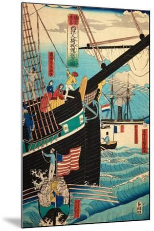 European Ship in Japanese Harbor, Circa 1860, Number 3-Sadi Radi-Mounted Giclee Print