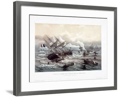 Peche a La Morue Sur Le Grand Banc De Terre-Neuve-Louis Le Breton-Framed Giclee Print