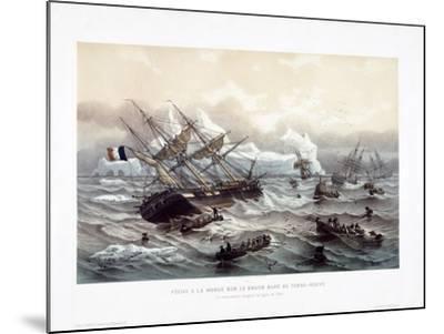 Peche a La Morue Sur Le Grand Banc De Terre-Neuve-Louis Le Breton-Mounted Giclee Print