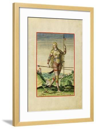 Illustration of Feminae Pictea from Theodor Debry's Narratio Virginiae, 1590-Theodor de Bry-Framed Giclee Print