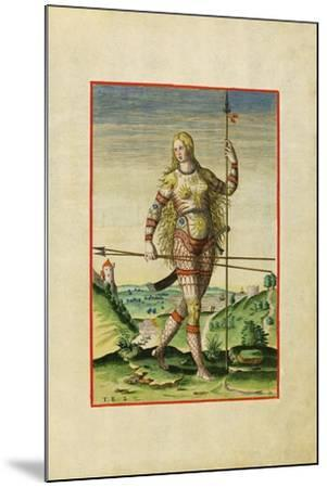 Illustration of Feminae Pictea from Theodor Debry's Narratio Virginiae, 1590-Theodor de Bry-Mounted Giclee Print