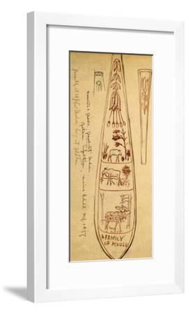 Decorated Paddles of Penobscot Indians-Edwin Tappan Adney-Framed Giclee Print