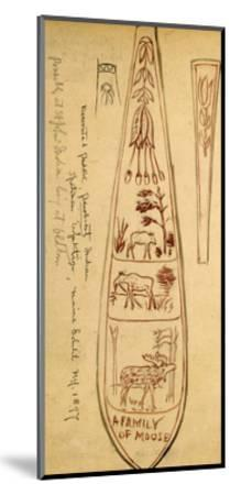 Decorated Paddles of Penobscot Indians-Edwin Tappan Adney-Mounted Giclee Print