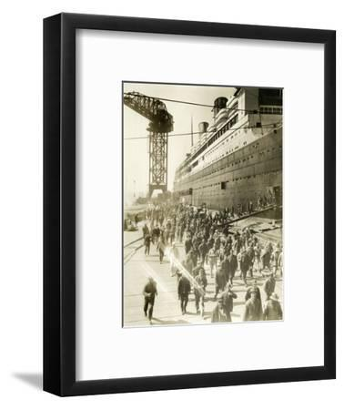 Mass Exodus at Quitting Time--Framed Photographic Print
