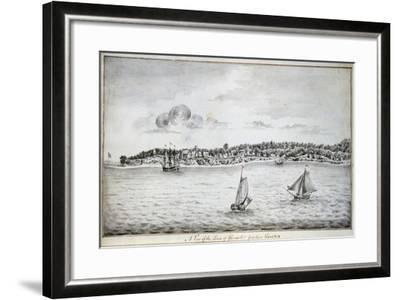 A View of the Town of Gloucester, York River, Virginia-John Gauntlett-Framed Giclee Print