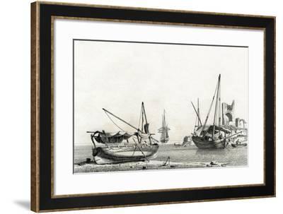 Bateau Genois Tire a Terre, Bateau Corse-Jean Jerome Baugean-Framed Giclee Print