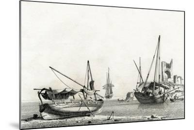 Bateau Genois Tire a Terre, Bateau Corse-Jean Jerome Baugean-Mounted Giclee Print