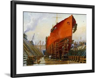 Segovia at Newport News Ship Building and Dry Dock No. 2-Thomas C. Skinner-Framed Giclee Print