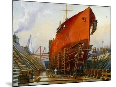 Segovia at Newport News Ship Building and Dry Dock No. 2-Thomas C. Skinner-Mounted Giclee Print
