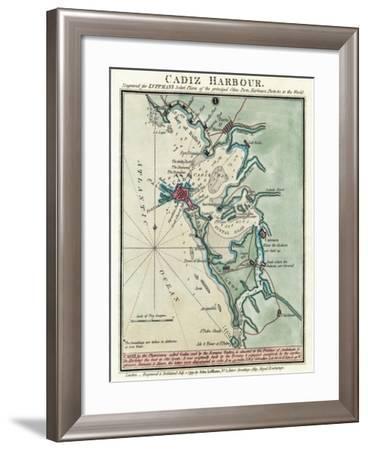 Cadiz Harbor-John Luffman-Framed Giclee Print