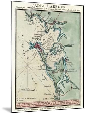 Cadiz Harbor-John Luffman-Mounted Giclee Print