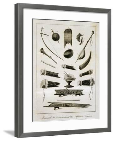 Musical Instruments of the African Negroes, 1773-John Gabriel Stedman-Framed Giclee Print