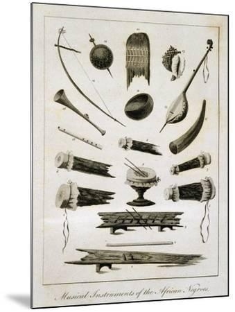 Musical Instruments of the African Negroes, 1773-John Gabriel Stedman-Mounted Giclee Print