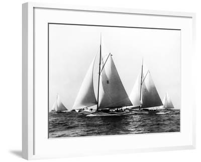 New York Yacht Club Yachts, New York 40'S-Edwin Levick-Framed Photographic Print