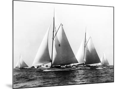 New York Yacht Club Yachts, New York 40'S-Edwin Levick-Mounted Photographic Print