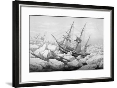 A Cutter Caught in a Gale in the Antarctic Regions--Framed Giclee Print