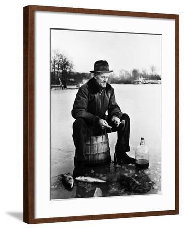 Ice Fishing--Framed Photographic Print