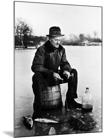 Ice Fishing--Mounted Photographic Print
