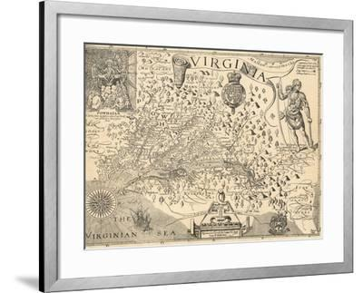 Map of Virginia-William Gilmore Simms-Framed Giclee Print