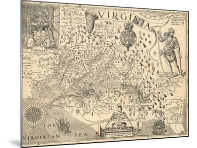 Map of Virginia-William Gilmore Simms-Mounted Giclee Print