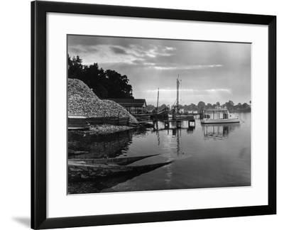 The End of a Waterman's Day-A. Aubrey Bodine-Framed Photographic Print