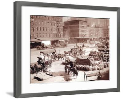 Dock Streets-Edwin Levick-Framed Photographic Print