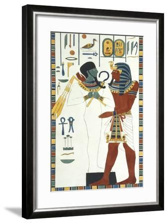 Tomb of Psammuthis: Osiris and Psammuthis-Giovanni Battista Belzoni-Framed Giclee Print