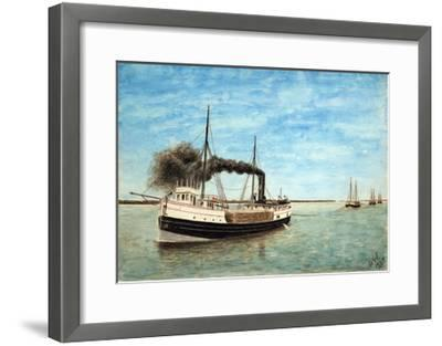 Charles H. Bradley Towing the Shawnee and Other Barges-William Gardham Larmour-Framed Giclee Print