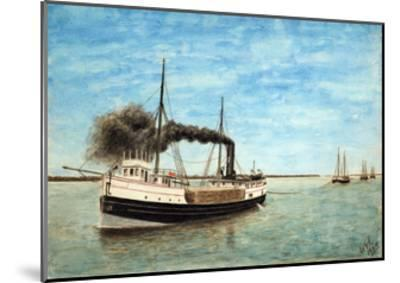 Charles H. Bradley Towing the Shawnee and Other Barges-William Gardham Larmour-Mounted Giclee Print