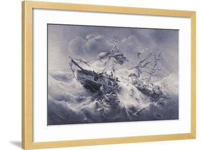 Wreck of the Floridian 1849-Jacob Albrecht Michael Jacobs-Framed Giclee Print