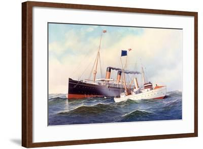 British Ship Majestic with Pilot Boat New York, 1898-Antonio Jacobsen-Framed Giclee Print