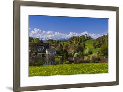 Germany, Bavaria, Upper Bavaria, T?lzer Land (Area), Holzhausen-Udo Siebig-Framed Photographic Print