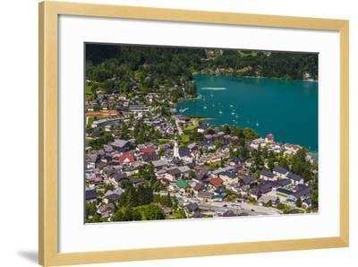 Austria, Salzburger Land (Ferderal State of Austria), Lake Wolfgangsee-Udo Siebig-Framed Photographic Print