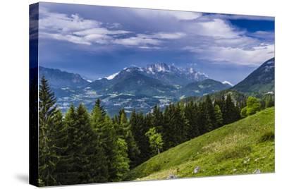 Germany, Bavaria, Upper Bavaria, Berchtesgadener Land (District), Sch?nau at K?nigssee-Udo Siebig-Stretched Canvas Print
